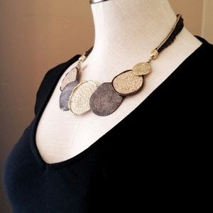 Jewelry - Shimmery Multi Disc Statement Necklace